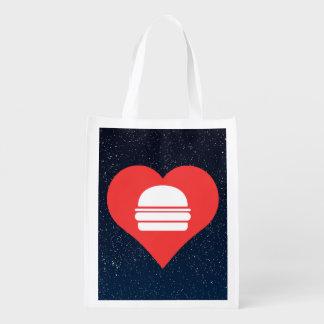 Cheeseburgers Pictogram Grocery Bag
