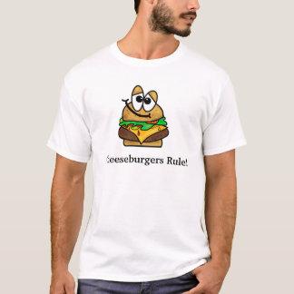 Cheeseburgers Rule Funny T-shirt