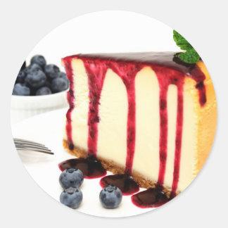 Cheesecake And Blueberries Classic Round Sticker