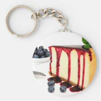 Cheesecake And Blueberries Keychain