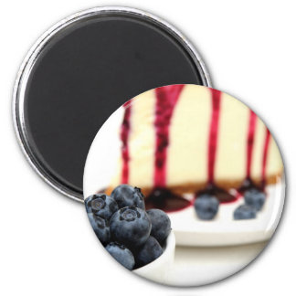 Cheesecake And Blueberries Magnet