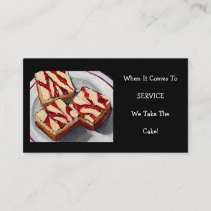 Cheesecake business cards templates zazzle cheesecake art business card reheart Choice Image