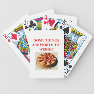 cheesecake bicycle playing cards