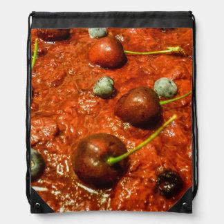 Cheesecake Detail Photo Drawstring Bag