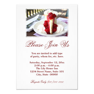 Cheesecake Invitations