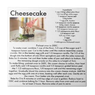 Cheesecake Recipe Kitchen Tile