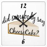 Cheesecake Wall Clock