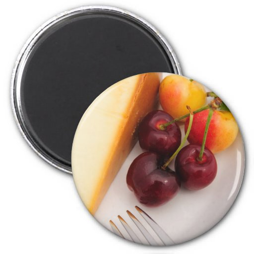 Cheesecake With Fruit 2 Inch Round Magnet