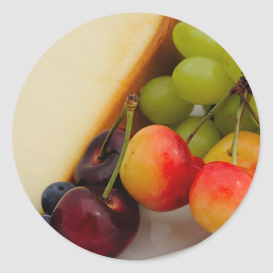 Cheesecake With Fruit Classic Round Sticker