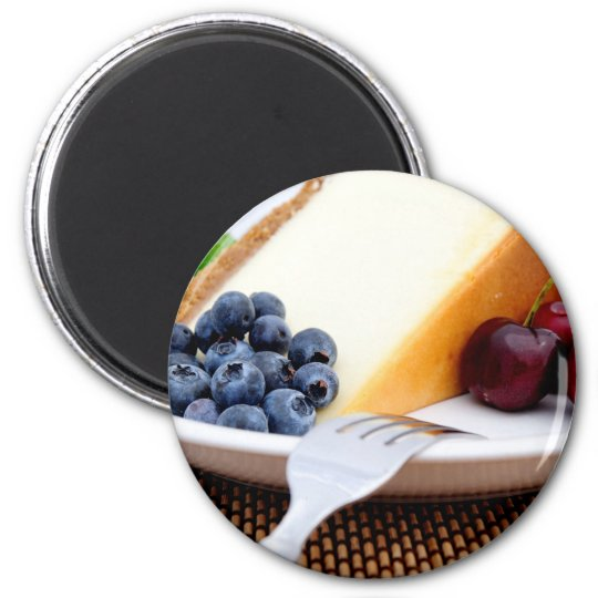 Cheesecake With Fruit Magnet
