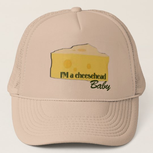cheesehead baby trucker hat