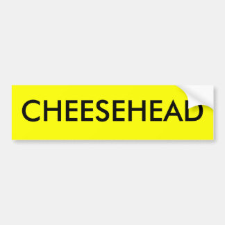 CHEESEHEAD CAR BUMPER STICKER