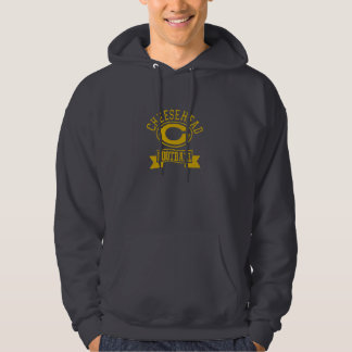 Cheesehead C Football 1 Hooded Pullover