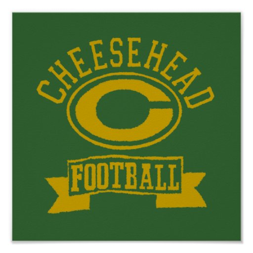 Cheesehead C Football 1 Posters