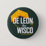 """Cheesehead Campaign button<br><div class=""""desc"""">Everyone in Wisconsin loves the Green and Gold. We love them too and are proud to sport their colors as well!</div>"""