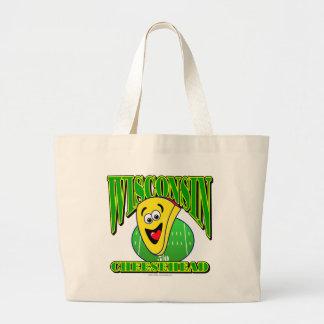 CheeseHead Cartoon 2 Tote Bags