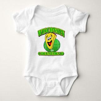 CheeseHead Cartoon Baby Bodysuit