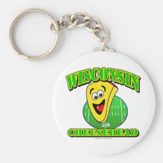 CheeseHead Cartoon Keychain