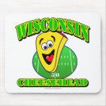 CheeseHead Cartoon Mouse Pad