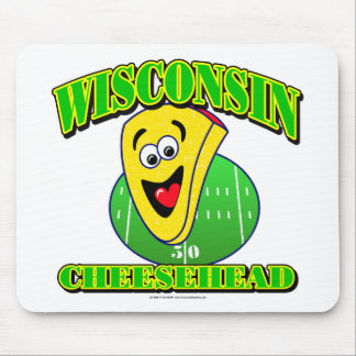 CheeseHead Cartoon Mouse Pad