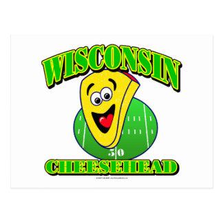 CheeseHead Cartoon Postcard