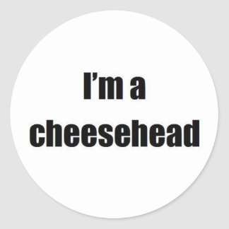 Cheesehead Classic Round Sticker