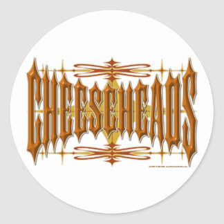 Cheeseheads Metal Classic Round Sticker