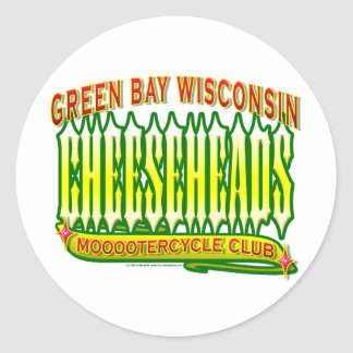 Cheeseheads Mooootercycle Club Classic Round Sticker