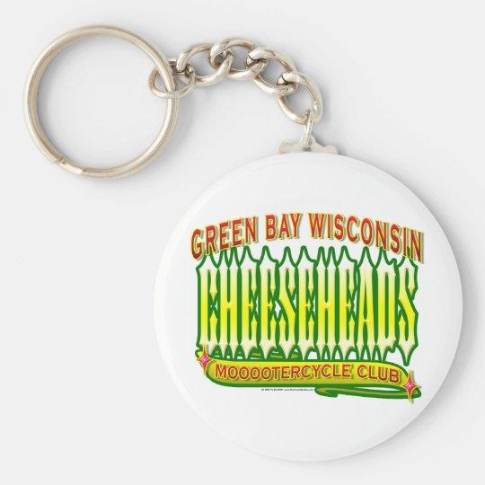 Cheeseheads Mooootercycle Club Keychain