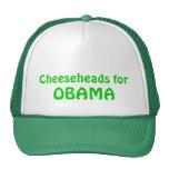 Cheeseheads para el gorra del camionero de Obama,