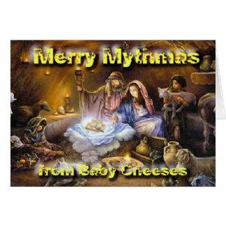 Cheeses Nativity Card
