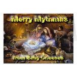 Cheeses Nativity Greeting Card