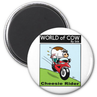 Cheesie Rider 2 Inch Round Magnet