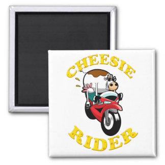 Cheesie Rider 2 Inch Square Magnet
