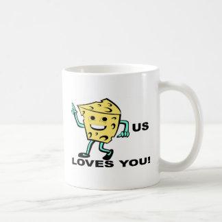 Cheesus Loves you from www.urbanmist.com Coffee Mug