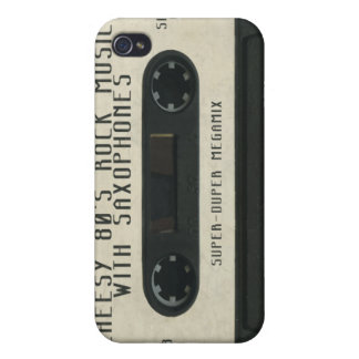 Cheesy 80's 'Sax-rock' cassette tape iphone skin iPhone 4 Covers
