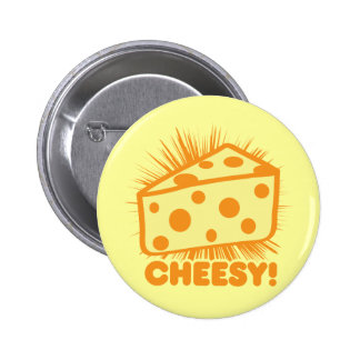 Cheesy Pinback Button