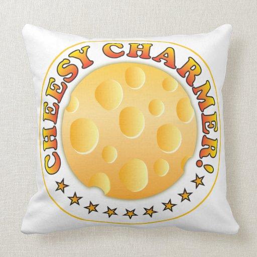 Cheesy Charmer Throw Pillow