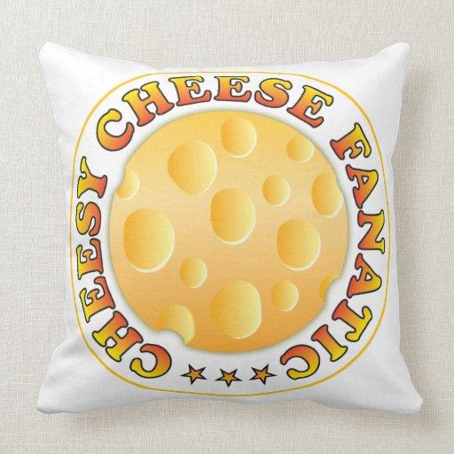 Cheesy Cheese Fanatic Throw Pillows