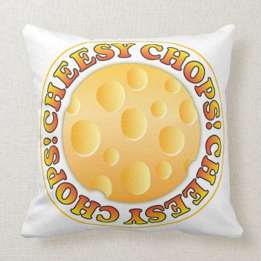 Cheesy Chops Throw Pillow