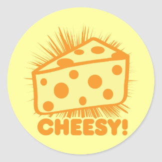 Cheesy Classic Round Sticker