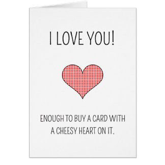 Cheesy heart - Valentine's Day card