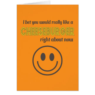 Cheesy Humor Greeting Card
