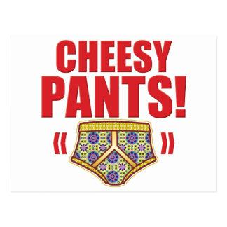 Cheesy Pants Flowery Postcard