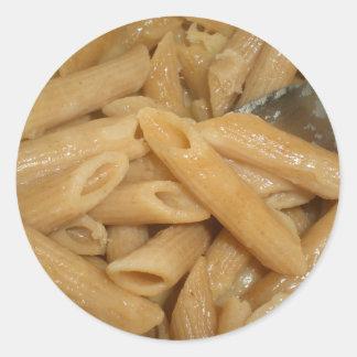 Cheesy Pasta Classic Round Sticker