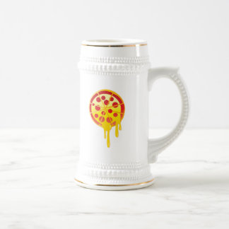 Cheesy pizza beer stein