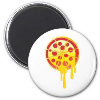 Cheesy pizza 2 inch round magnet