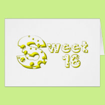 Cheesy Sweet 16 Card