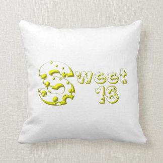 Cheesy Sweet 16 Throw Pillow