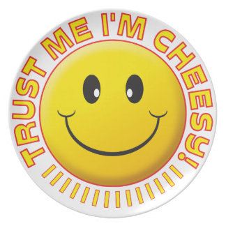 Cheesy Trust Me Smile Party Plate